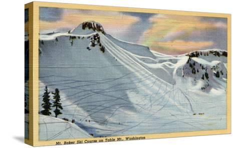 Mt. Baker, Washington - View of Mt. Baker Ski Course on Table Mt.-Lantern Press-Stretched Canvas Print