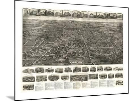 Manchester, Connecticut - Panoramic Map-Lantern Press-Mounted Art Print