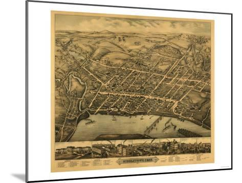 Middletown, Connecticut - Panoramic Map-Lantern Press-Mounted Art Print