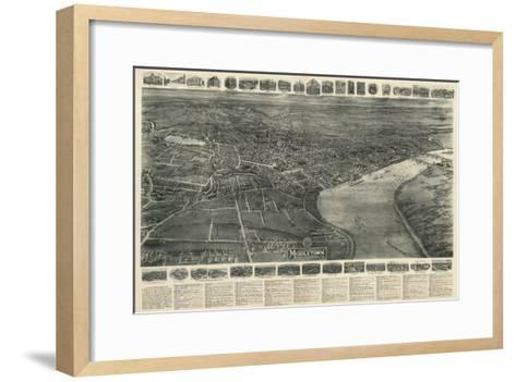 Middletown, Connecticut - Panoramic Map-Lantern Press-Framed Art Print