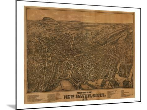 New Haven, Connecticut - Panoramic Map-Lantern Press-Mounted Art Print
