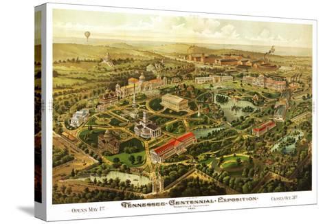 Nashville, Tennessee - Nashville Exposition-Lantern Press-Stretched Canvas Print