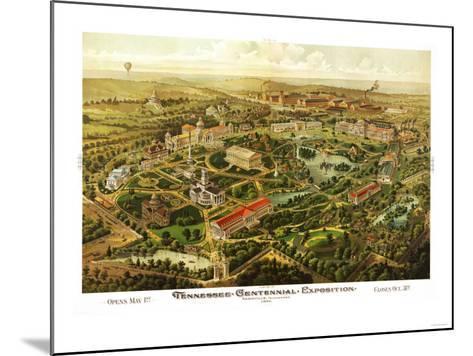 Nashville, Tennessee - Nashville Exposition-Lantern Press-Mounted Art Print