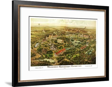 Nashville, Tennessee - Nashville Exposition-Lantern Press-Framed Art Print