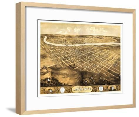 Lawrence, Kansas - Panoramic Map-Lantern Press-Framed Art Print
