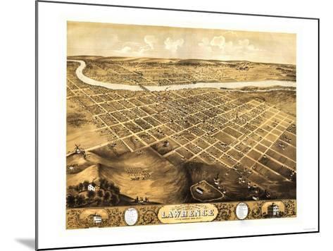 Lawrence, Kansas - Panoramic Map-Lantern Press-Mounted Art Print