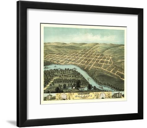 Mankato, Minnesota - Panoramic Map-Lantern Press-Framed Art Print