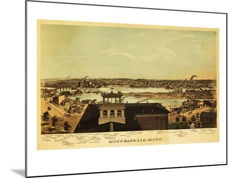 Minneapolis, Minnesota - Panoramic Map-Lantern Press-Mounted Art Print