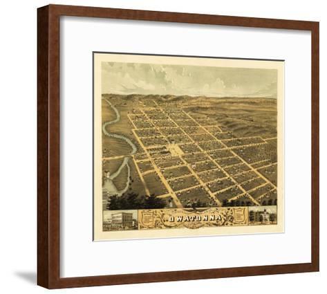 Owatonna, Minnesota - Panoramic Map-Lantern Press-Framed Art Print