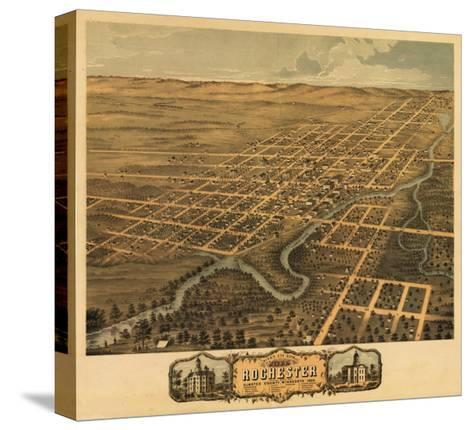 Rochester, Minnesota - Panoramic Map-Lantern Press-Stretched Canvas Print