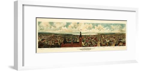 Milwaukee, Wisconsin - Panoramic Map-Lantern Press-Framed Art Print