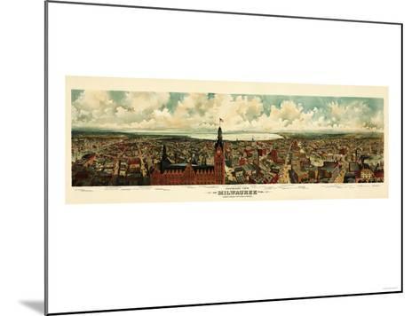 Milwaukee, Wisconsin - Panoramic Map-Lantern Press-Mounted Art Print