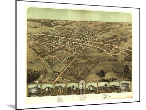 Pontiac, Michigan - Panoramic Map-Lantern Press-Mounted Art Print