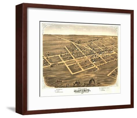 Manteno, Illinois - Panoramic Map-Lantern Press-Framed Art Print