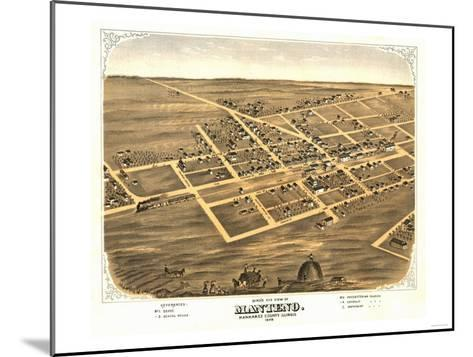 Manteno, Illinois - Panoramic Map-Lantern Press-Mounted Art Print
