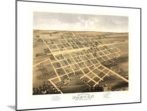 Paxton, Illinois - Panoramic Map-Lantern Press-Mounted Art Print