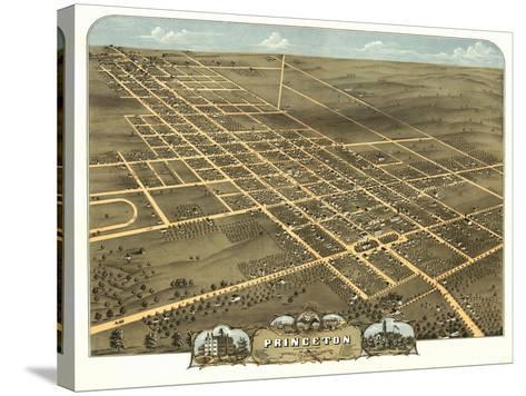 Princeton, Illinois - Panoramic Map-Lantern Press-Stretched Canvas Print