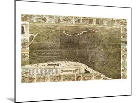 Philadelphia, Pennsylvania - Panoramic Map-Lantern Press-Mounted Art Print