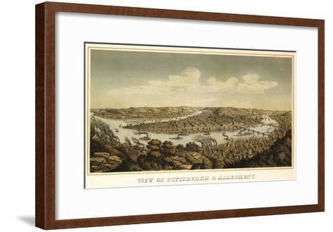 Pittsburgh, Pennsylvania - Panoramic Map-Lantern Press-Framed Art Print