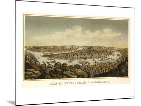 Pittsburgh, Pennsylvania - Panoramic Map-Lantern Press-Mounted Art Print