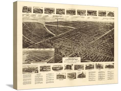 Lindenhurst, New York - Panoramic Map-Lantern Press-Stretched Canvas Print