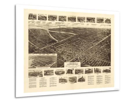 Lindenhurst, New York - Panoramic Map-Lantern Press-Metal Print