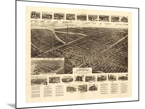 Lindenhurst, New York - Panoramic Map-Lantern Press-Mounted Art Print