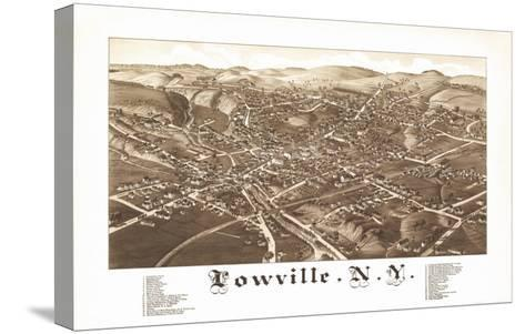 Lowville, New York - Panoramic Map-Lantern Press-Stretched Canvas Print