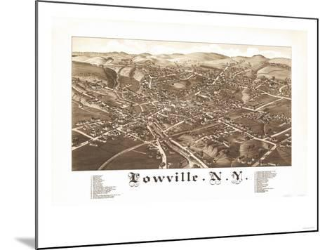 Lowville, New York - Panoramic Map-Lantern Press-Mounted Art Print