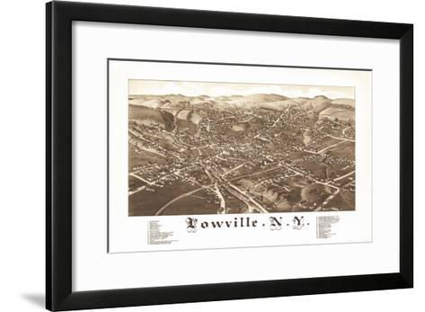 Lowville, New York - Panoramic Map-Lantern Press-Framed Art Print