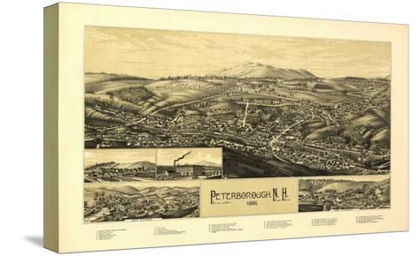 Peterborough, New Hampshire - Panoramic Map-Lantern Press-Stretched Canvas Print