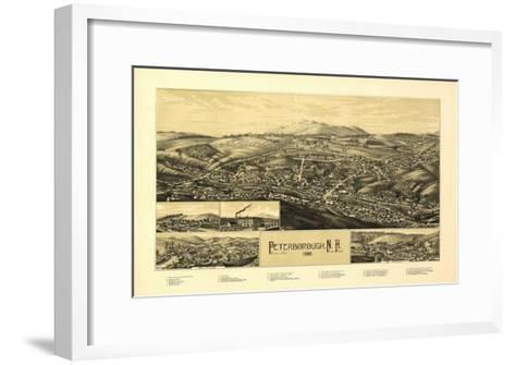 Peterborough, New Hampshire - Panoramic Map-Lantern Press-Framed Art Print