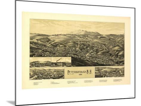 Peterborough, New Hampshire - Panoramic Map-Lantern Press-Mounted Art Print