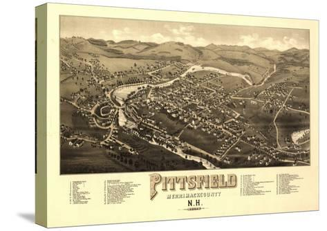 Pittsfield, New Hampshire - Panoramic Map-Lantern Press-Stretched Canvas Print