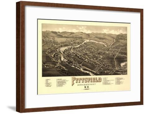 Pittsfield, New Hampshire - Panoramic Map-Lantern Press-Framed Art Print