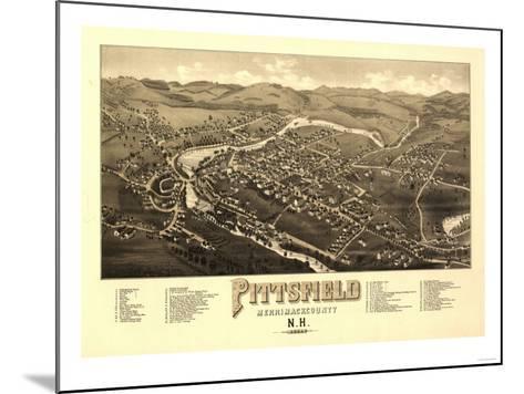 Pittsfield, New Hampshire - Panoramic Map-Lantern Press-Mounted Art Print