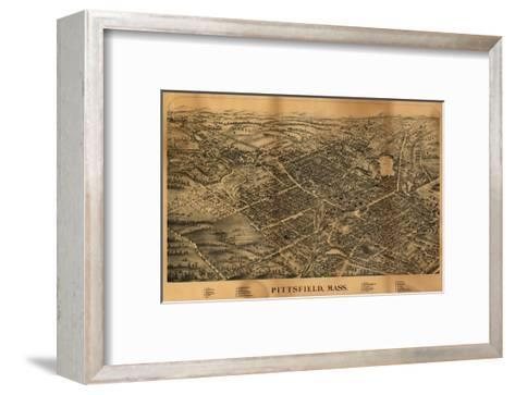 Pittsfield, Massachusetts - Panoramic Map-Lantern Press-Framed Art Print
