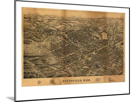 Pittsfield, Massachusetts - Panoramic Map-Lantern Press-Mounted Art Print