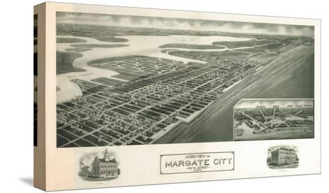 Margate, New Jersey - Panoramic Map-Lantern Press-Stretched Canvas Print