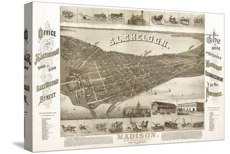 Madison, Wisconsin - Panoramic Map No. 1-Lantern Press-Stretched Canvas Print