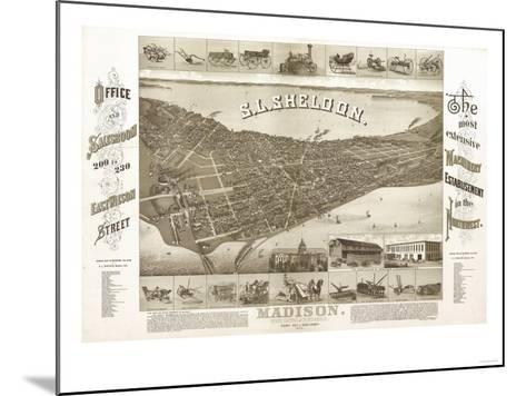 Madison, Wisconsin - Panoramic Map No. 1-Lantern Press-Mounted Art Print