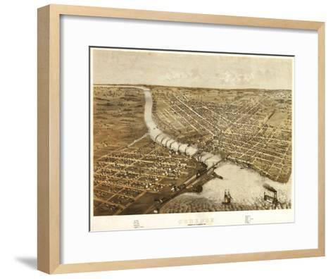 Oshkosh, Wisconsin - Panoramic Map-Lantern Press-Framed Art Print