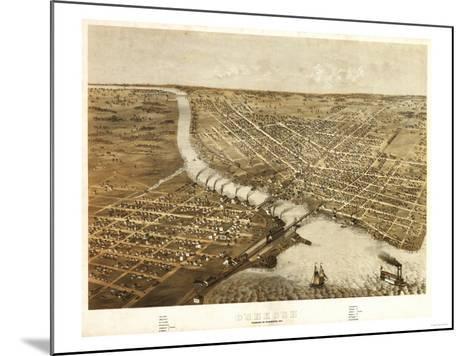 Oshkosh, Wisconsin - Panoramic Map-Lantern Press-Mounted Art Print