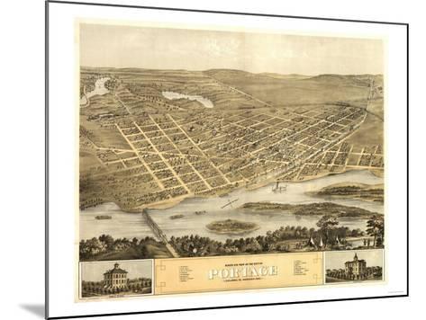 Portage, Wisconsin - Panoramic Map-Lantern Press-Mounted Art Print