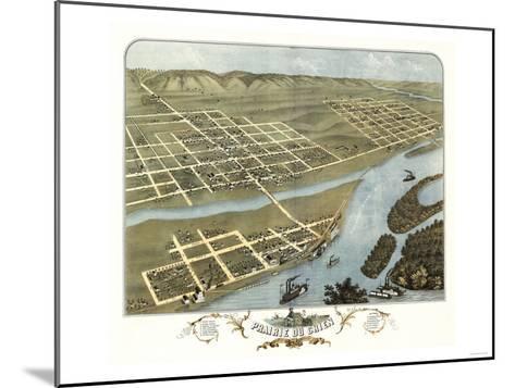 Prairie du Chien, Wisconsin - Panoramic Map-Lantern Press-Mounted Art Print
