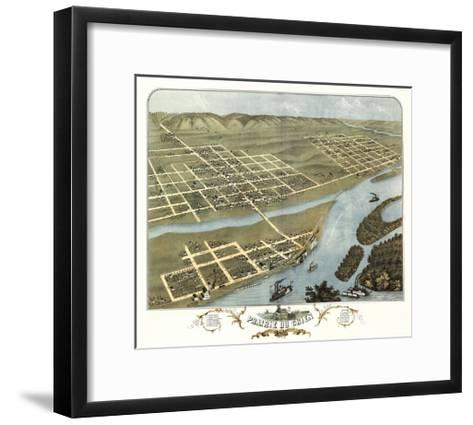 Prairie du Chien, Wisconsin - Panoramic Map-Lantern Press-Framed Art Print