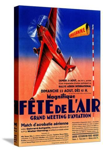 Lausanne, France - Airshow Featuring Haryse Hilsz Promotional Poster-Lantern Press-Stretched Canvas Print
