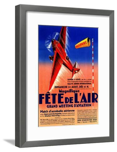 Lausanne, France - Airshow Featuring Haryse Hilsz Promotional Poster-Lantern Press-Framed Art Print
