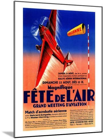Lausanne, France - Airshow Featuring Haryse Hilsz Promotional Poster-Lantern Press-Mounted Art Print