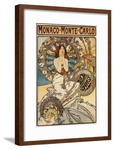 Monte Carlo, Monaco - Woman with Feathers-Lantern Press-Framed Art Print